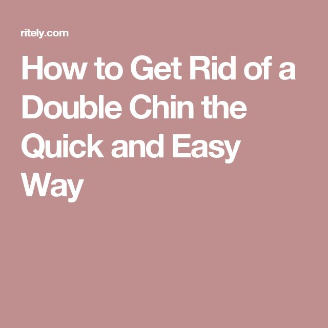 how to get rid of double chin in 1 week