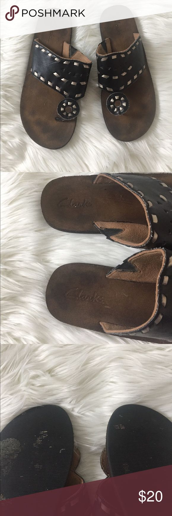 women's clarks sandals size 8 size 8 good condition women's clarks. they have some wear as documented but still in great condition. bundle with other items for an even deeper discount. Clarks Shoes Sandals