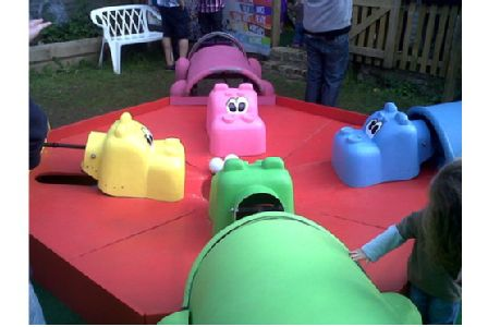 Giant Hungry Hungry Hippos