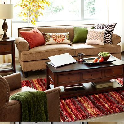 glamorous pier one living room | Carmen Sofa - Toasted Pecan @ Pier 1 | For the Home ...