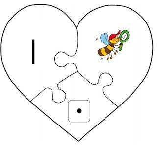 Juf Shanna: Hart Puzzel - Getallen en Zoem de Bij (VLL)