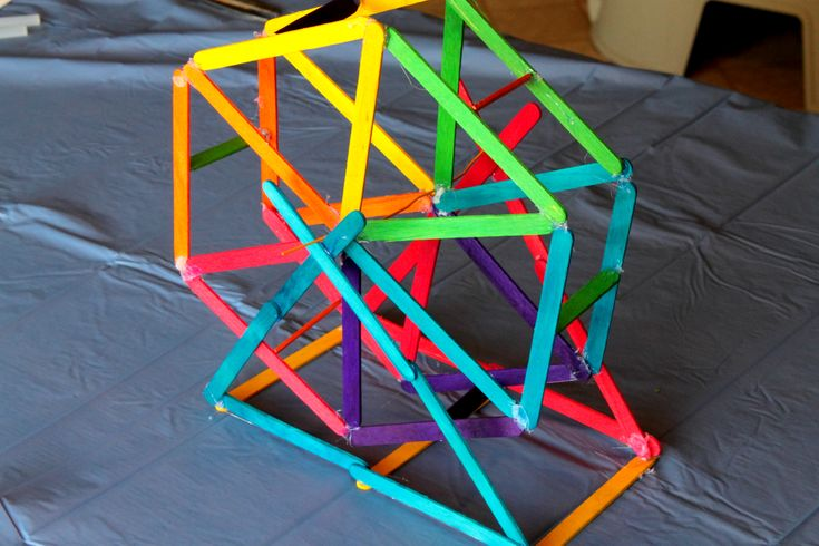 How to Make a Ferris Wheel Out of Popsicle Sticks : business card and brochure holder
