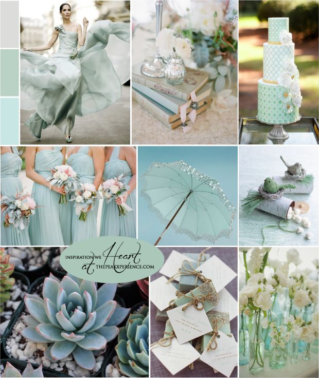 Grayed Jade Grey And Pastel Mint