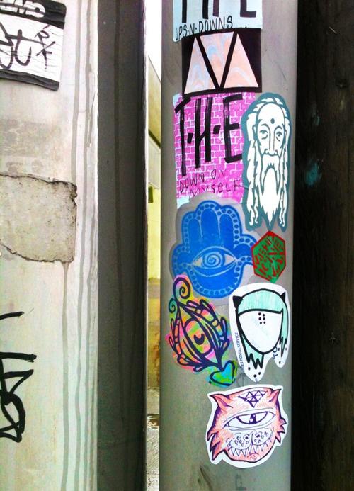 Portland pnw streetart stickers