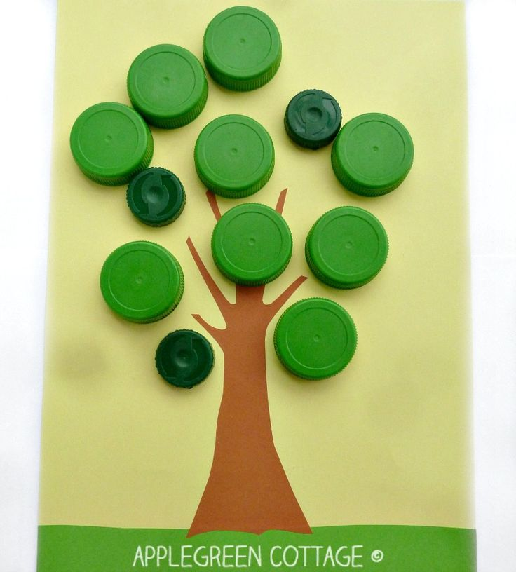 what to do with plastic bottle caps - Apple Tree Game