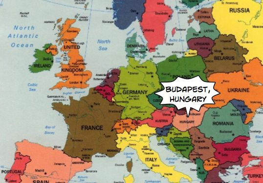 Yes, there we are! :) #Hungary #budapest #Europe #travel #map