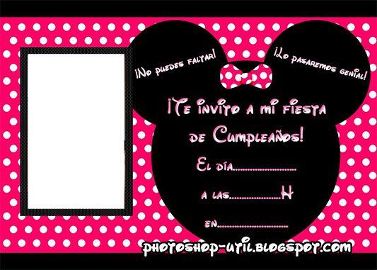 Tarjeta de invitación para cumpleaños de Minnie - Imagui