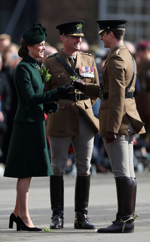 At past parades, the Duke has sipped on a traditional pint of Guinness in a nod to the tradition of the day however last year Kate, who was heavily pregnant with Prince Louis, opted for a sparkling water instead Duchess Kate, Duke And Duchess, Duchess Of Cambridge, Kate Middleton New Hair, Alexander Mcqueen, Saint Laurent Tote, Kate Middleton Prince William, Isabel Ii, Royal Clothing