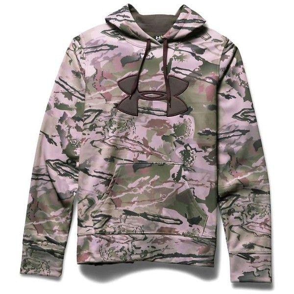 Under Armour Women's Camo Big Logo Hoodie ($75) ❤ liked on Polyvore featuring tops, hoodies, ridge reaper camo barren, under armour, under armour tops, water resistant hoodie, sweatshirt hoodies and camouflage hoodies