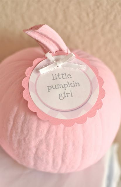Pink pumpkin baby shower ideas