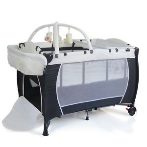 New-All-in-1-Portable-Travel-Cot-Portacot-Playpen-Bassinet-Rocker-Toy-Insect-Net