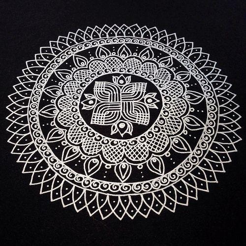Another Kolam/Rangoli Inspired Mandala | Flickr - Photo Sharing!