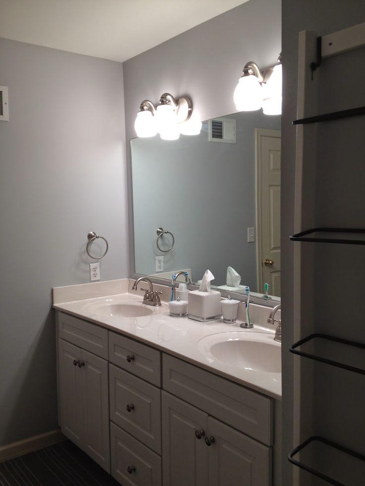 The Bee Skep Behr Silver Screen Paint In Bathroom
