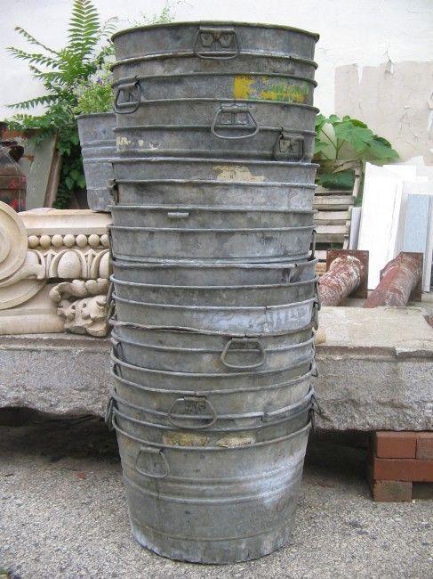 Vintage Galvanized Metal Fence Top Finial Fence Post: Vintage Galvanized Buckets: