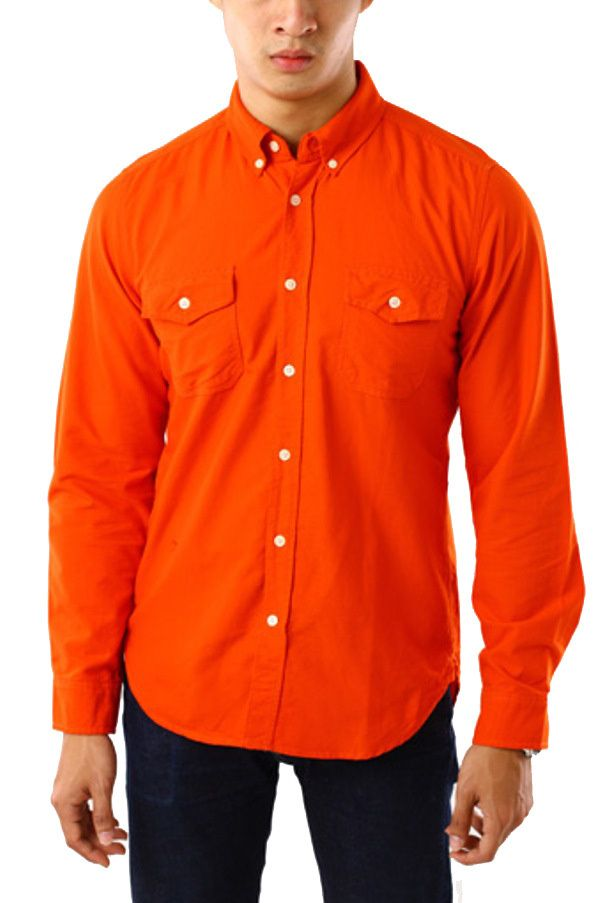 Edberth Shop Kemeja Gap Cotton - Orange - Int:XL