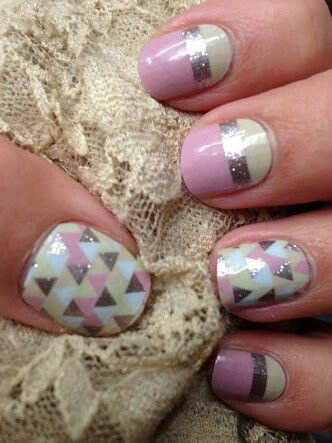 ~Jewelry Box~ A spunky Mixed Mani featuring hues of pink and gold sparkle for a flirty, fun look! ~~~~~~~~~~~~~~~~~~~~ https://knightsofthejamjamtable.jamberry.com/au/en/shop/products/jewelry-box