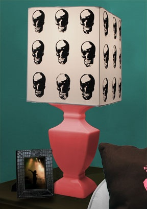 Screen Print in Grids on a fabric lampshade using Zip Screens