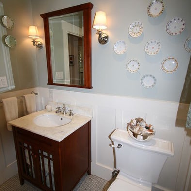 Powder Room Beadboard Design Pictures Remodel Decor and