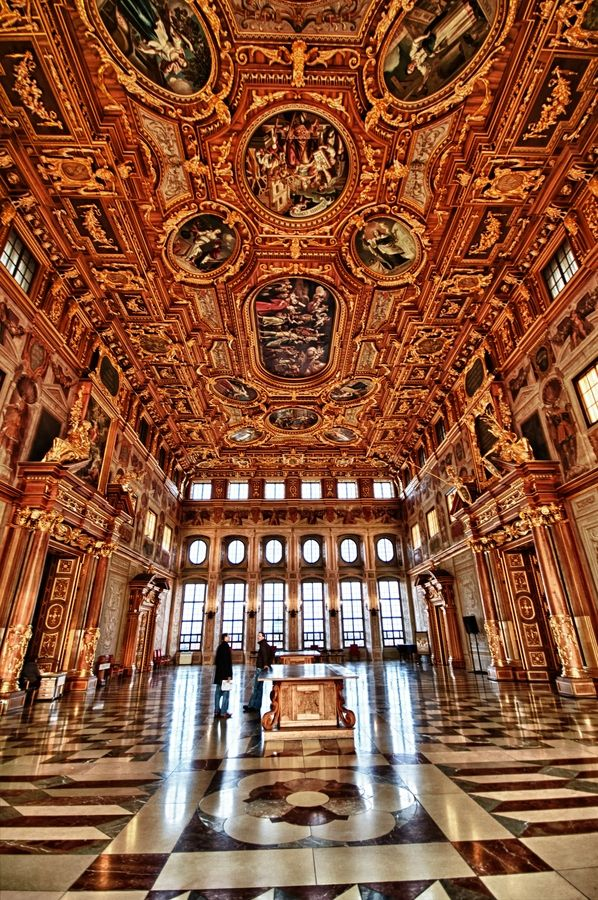 Golden hall in the city hall in Augsburg. One of the most impressive rooms in Germany. Been there (Augsburg) but sure missed this!!!  Just means another trip!
