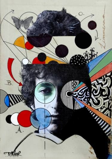 "Saatchi Art Artist Loui Jover; Collage, ""dylan deconstruct"" #art"