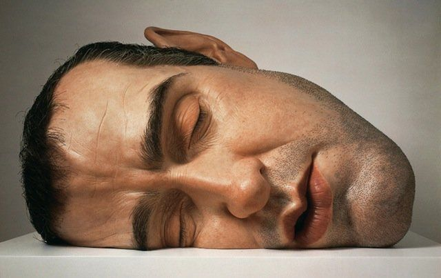 Statue  of Ron Mueck