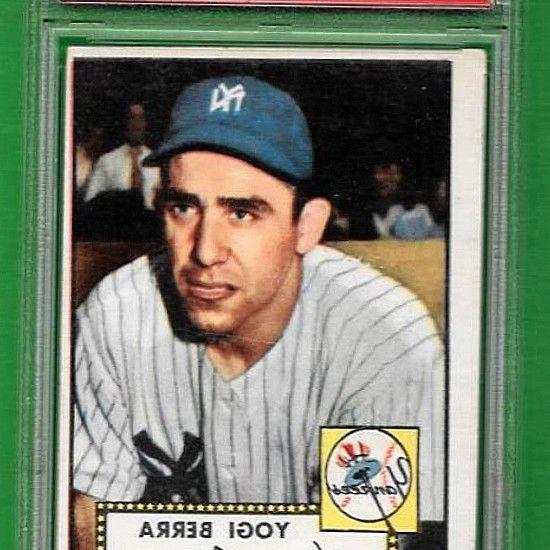 1952 Topps  191 Yogi Berra ** PSA VG-EX 4 * New York Yankees * old baseball card. C $280.44; Buy It Now; Free shipping. 12d 16h left (15/8, 9:14). 1952 Topps card  191 of New York Yankees Hall-of-Fame catcher, Yogi Berra. PSA Graded VG-EX 4.   sports-collectible.bid! #BaseballCards #baseballcard #Baseball #Cards #Sports #Deals #Collectibles #gifts