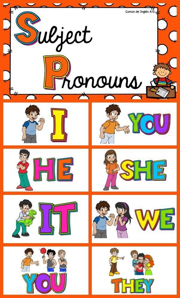 Resultado de imagen de pronombres personales en ingles