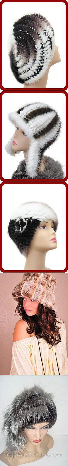 шапки. вязание с мехом. идеи.