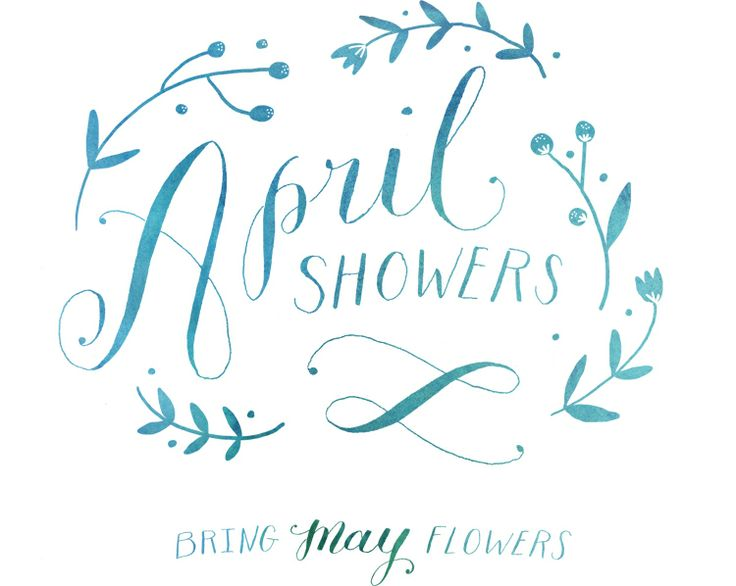 by molly jacques: Shower Bring, Letters Typography, Designworklif Com, Hands Letters, Work Life, Random Pin, Flowers Design, April Showers, May Flowers