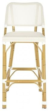 Deltana Barstool Beige (INDOOR/OUTDOOR) - transitional - Outdoor Stools And Benches - Pacific Rug & Home