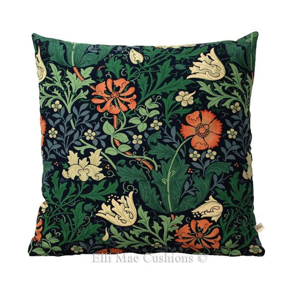William Morris Compton Designer Fabric Vintage by ElliMaeCushions