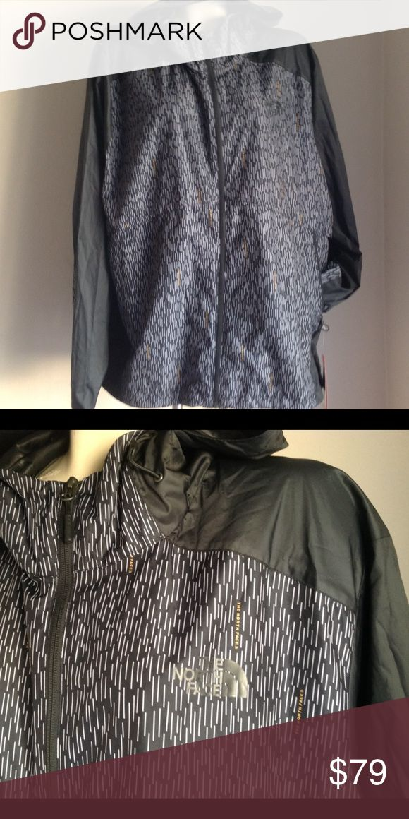 New authentic The North face Mens jacket XXL NWT New authentic The North Face Mens jacket black print new w tags XXL.smoke and pet free home.I ship same or next day.Full zip style Hoodie Makes a great gift ! The North Face Jackets & Coats Windbreakers