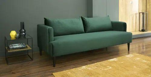 Beistelltisch aus Glas und schwarzem Metall Sofa home
