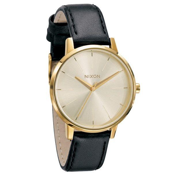 Nixon Kensington Leather Watch - Gold
