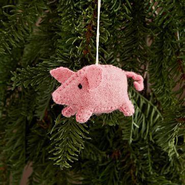 Felt Pig Ornament #westelm for beckett