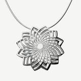 Pioni Pendant, 120€, Sterling silver, Design by Kristian Saarikorpi