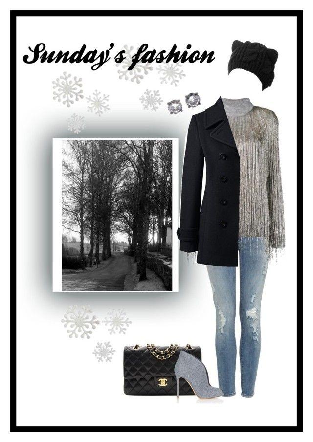 """Sunday's fashion"" by charmina-linda on Polyvore featuring Valentino, Chanel, Gianvito Rossi, Bottega Veneta and Lands' End"