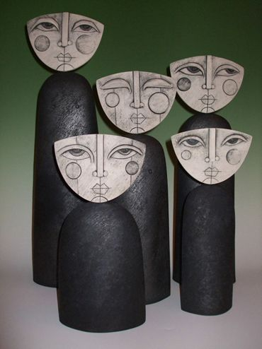 sue hanna...love these faces...switch it up for Frida Kahlo?