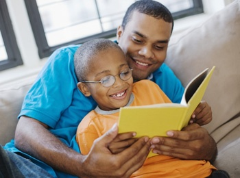 Dads love reading!