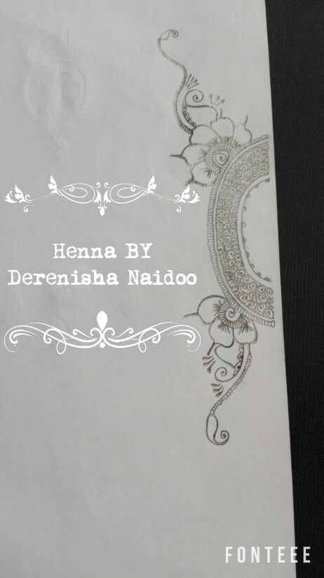💠Henna Drawing for your     Hand 💠