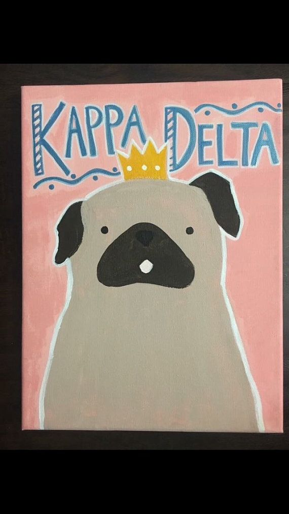 Pug Kappa Delta Canvas