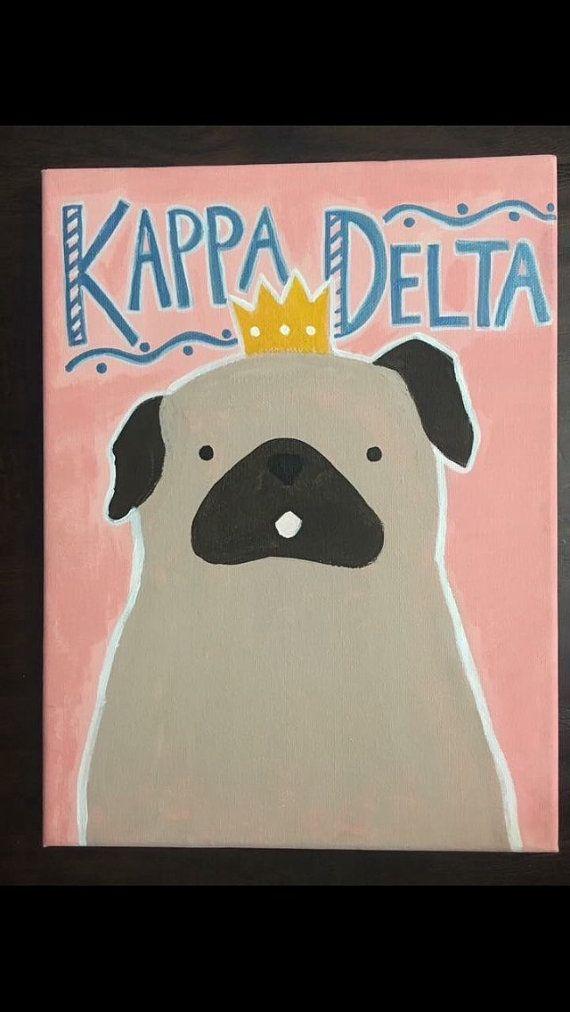 Pug Kappa Delta Canvas
