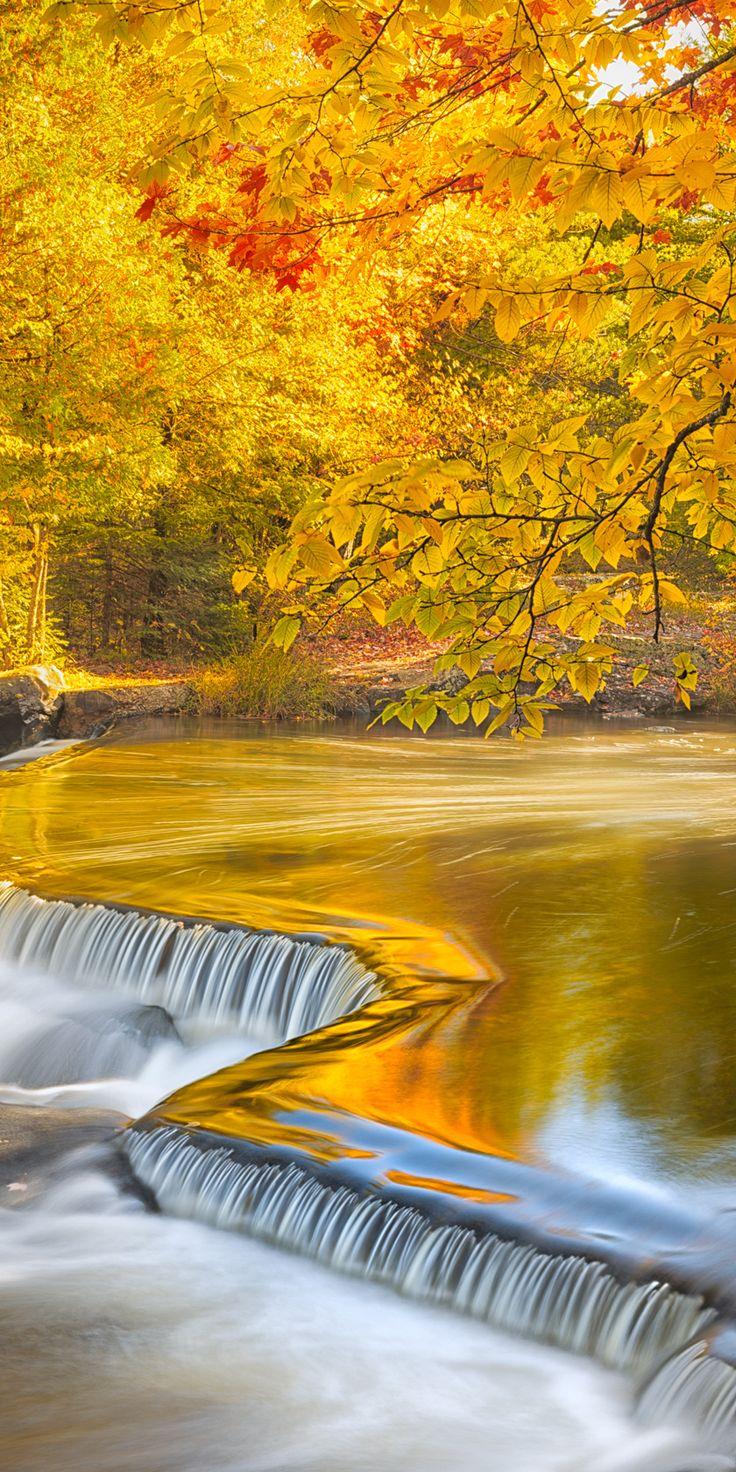 Autumn at Bond Falls, Michigan.