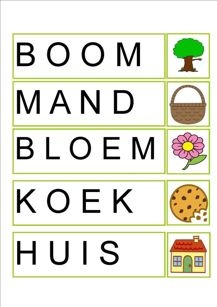 Woordkaart 2 roodkapje (Woorden natypen op computer of naleggen met letterkaartjes)