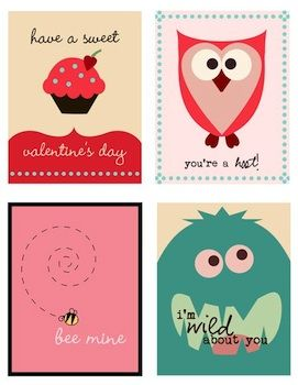 Lots of cute Valentine printables