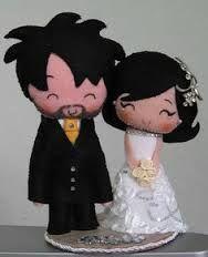 Resultado de imagem para topo de bolo anime casamento