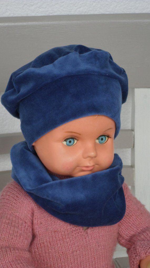 bonnet béret chapeau snood  bébé  fille garçon  lin eva kids  velours   bleu collection automne hiver création lineva cadeau bébé fille 01123a3d3d4