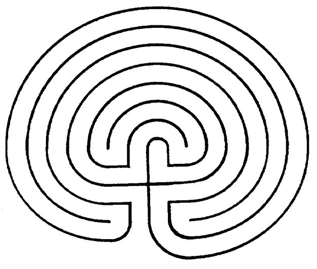 Printable Finger Labyrinth | Classical 7 Path Labyrinth – Left – Journey Beyond Belief