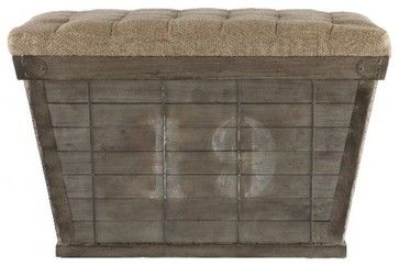 Storage Crate - industrial - Ottomans And Cubes - Masins Furniture