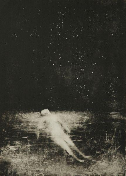 """Художница #Sophie_Lecuyer Елизавета Стюарт  """"Бессонница. Твержу стихи на память. Одно, другое, третье — без конца...  Ночь прижимается к оконной раме  И глаз не сводит с моего лица."""""""